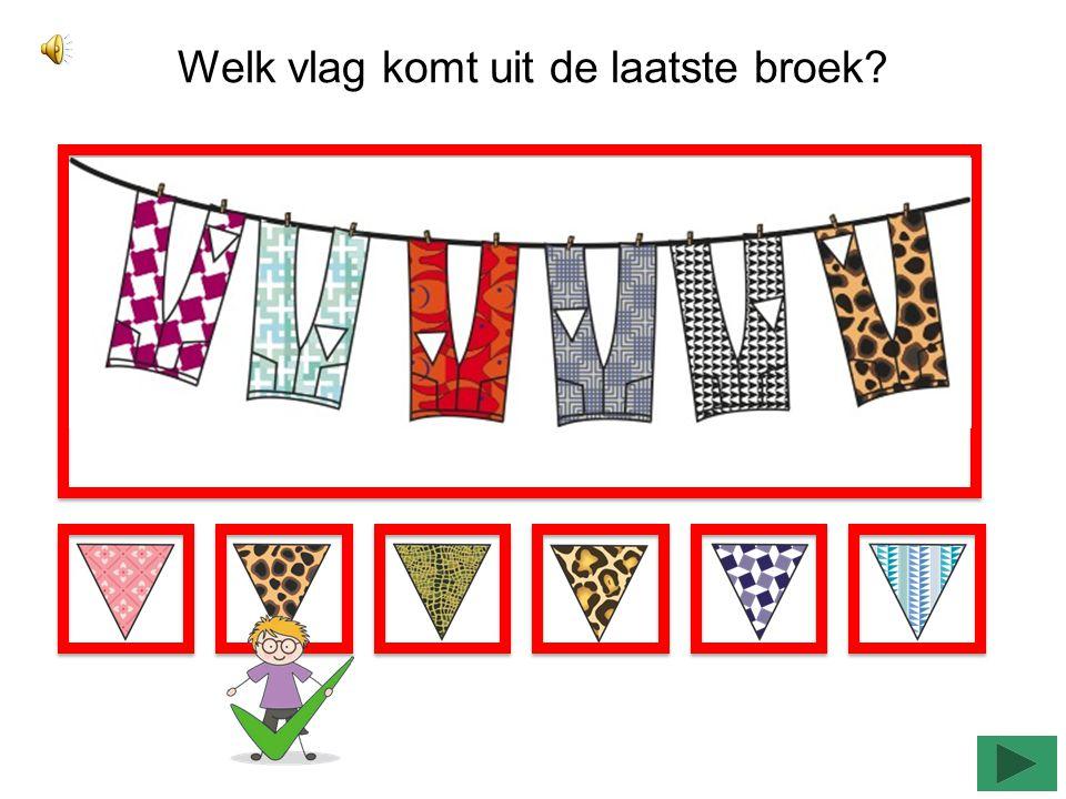 Welk vlag komt uit de middelste jurk?