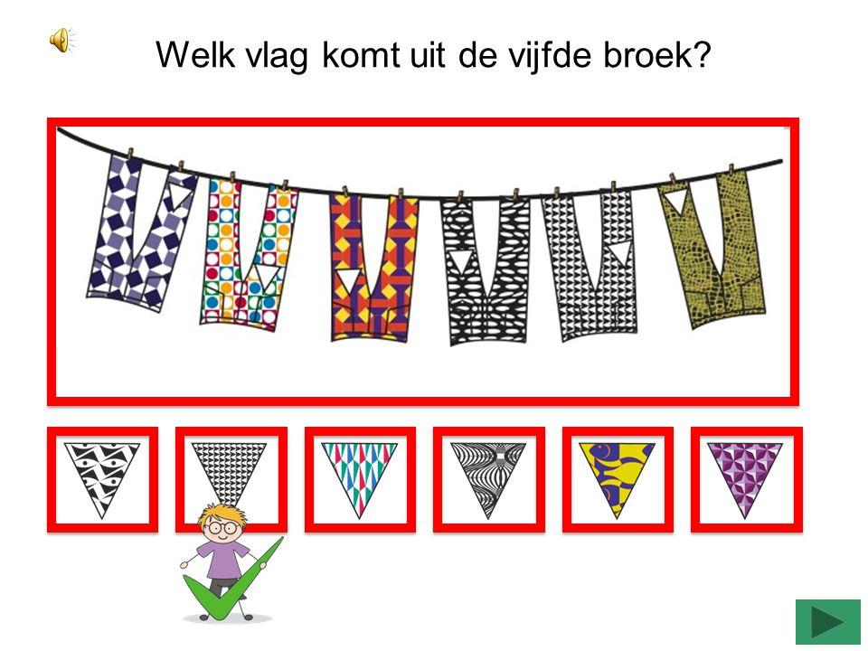 Welk vlag komt uit de zesde jurk?