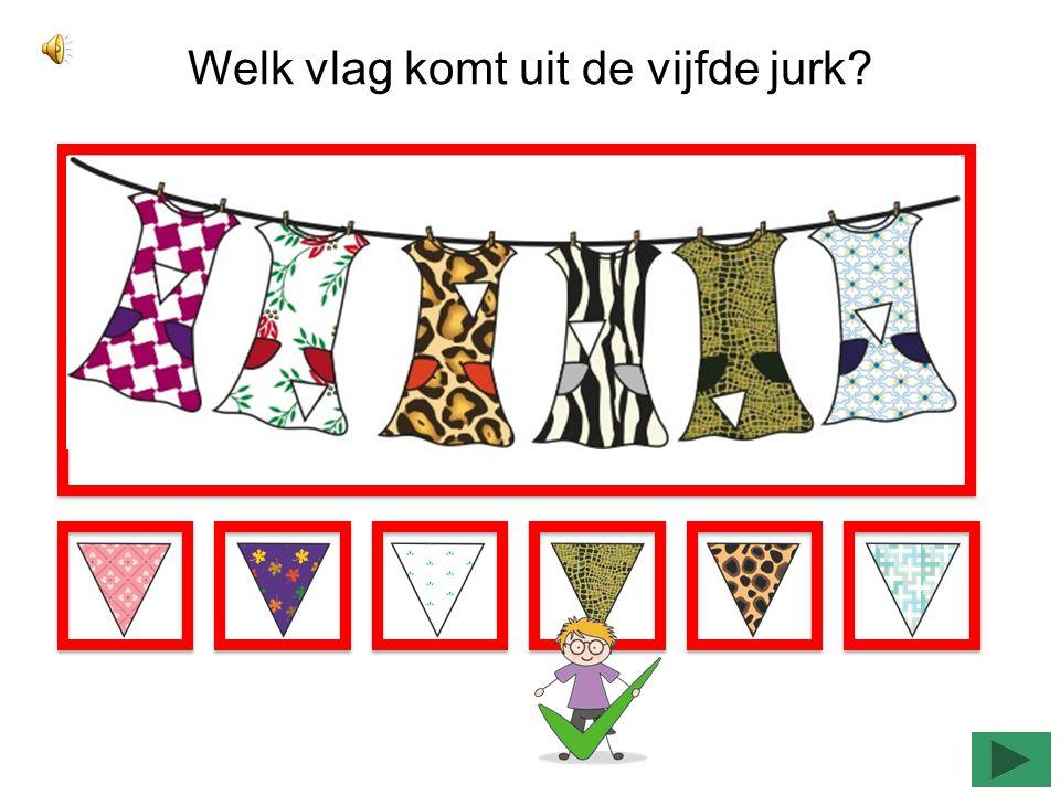 Welk vlag komt uit de laatste broek?