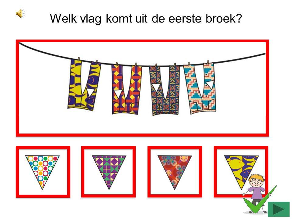 Welk vlag komt uit de tweede jurk?