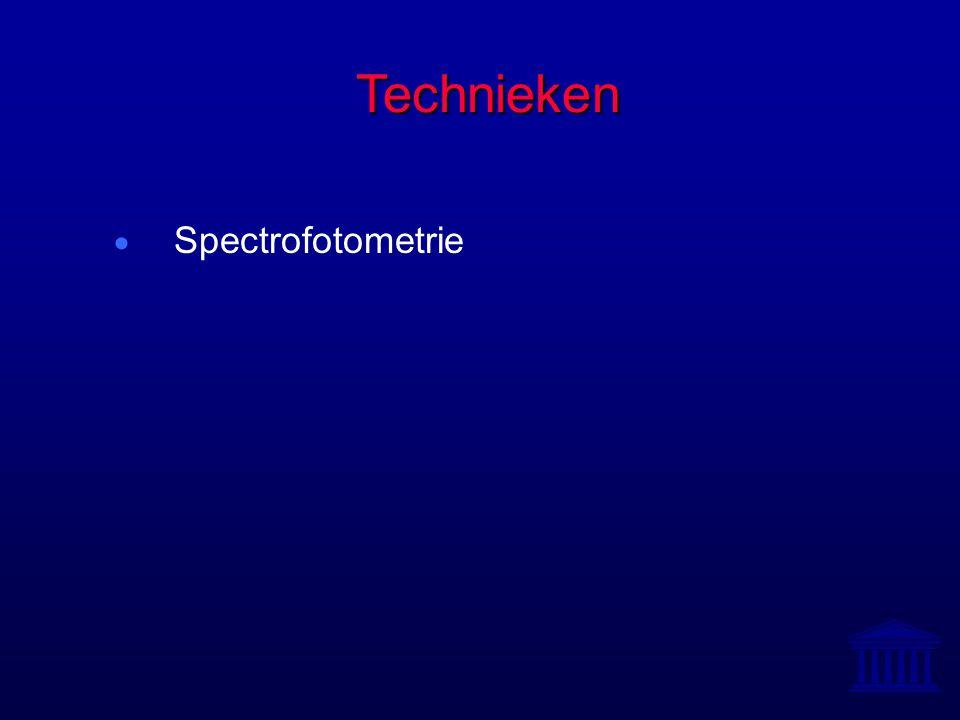 Technieken  Spectrofotometrie