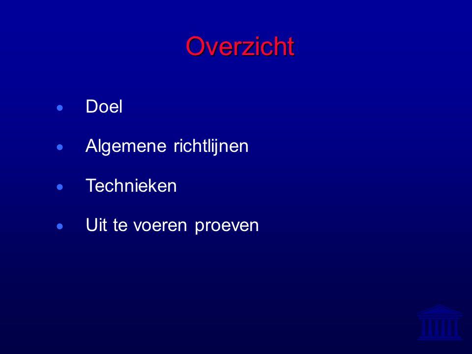 Doel = Concentratiemetingen Doel = Concentratiemetingen 1.