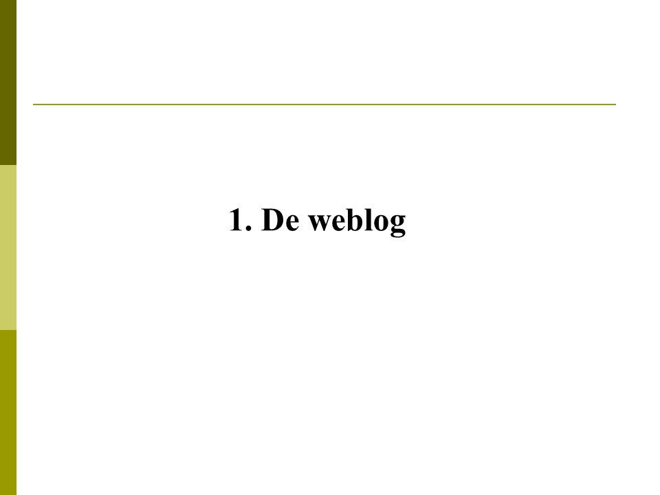 1. De weblog
