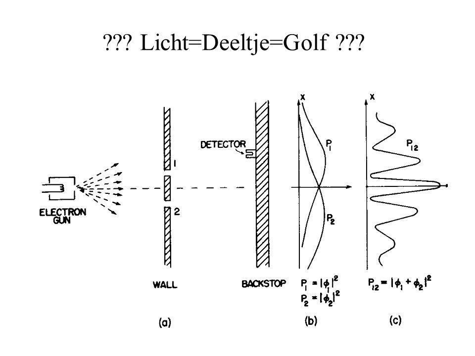 ??? Licht=Deeltje=Golf ???