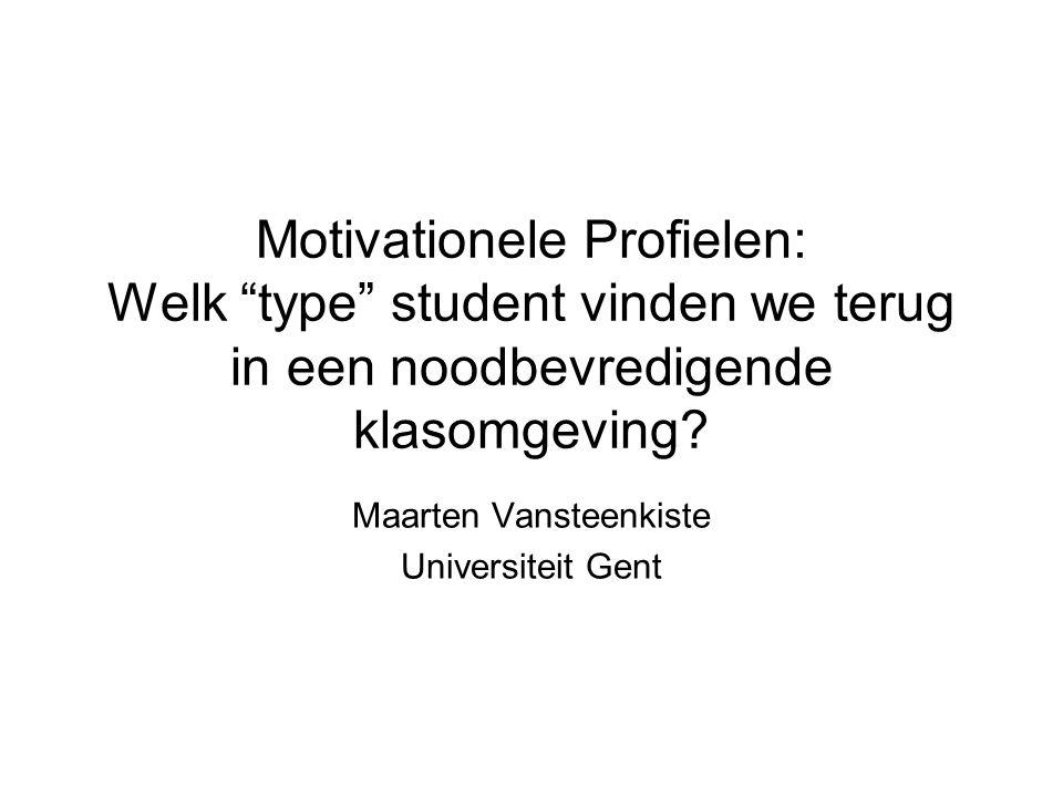 Motivationele Profielen: Welk type student vinden we terug in een noodbevredigende klasomgeving.