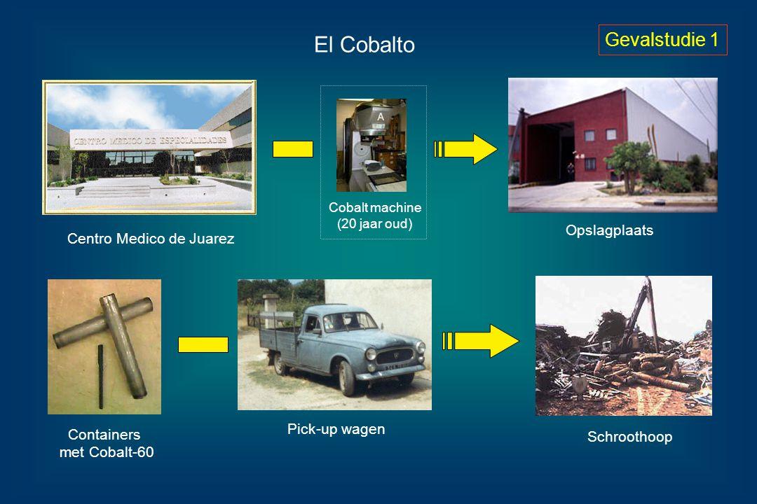 El Cobalto Centro Medico de Juarez Opslagplaats Cobalt machine (20 jaar oud) Containers met Cobalt-60 Pick-up wagen Schroothoop Gevalstudie 1