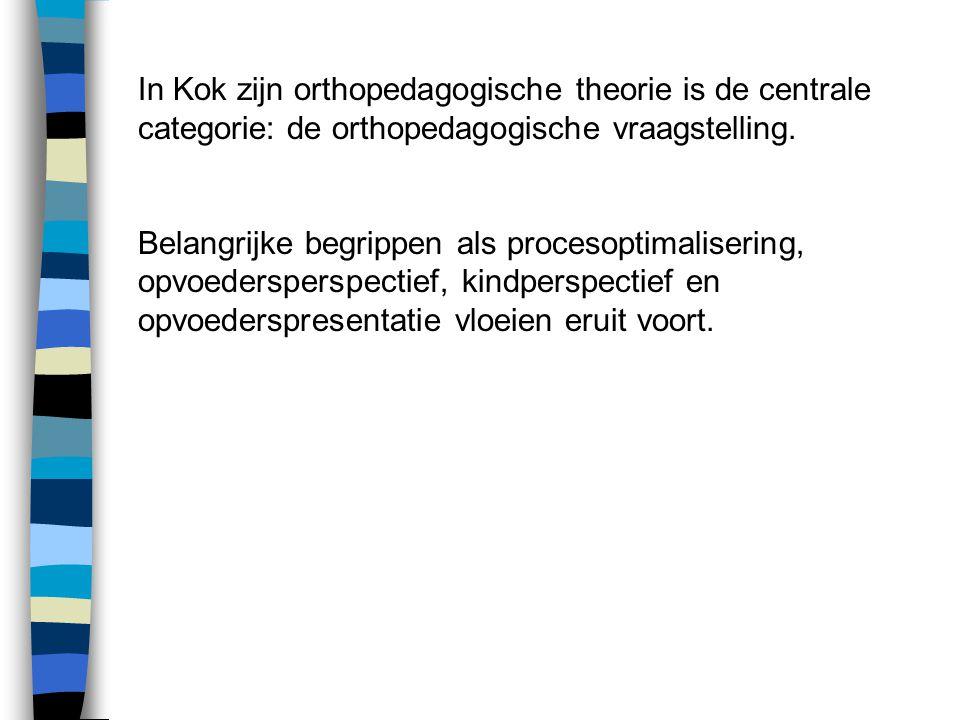 In Kok zijn orthopedagogische theorie is de centrale categorie: de orthopedagogische vraagstelling.