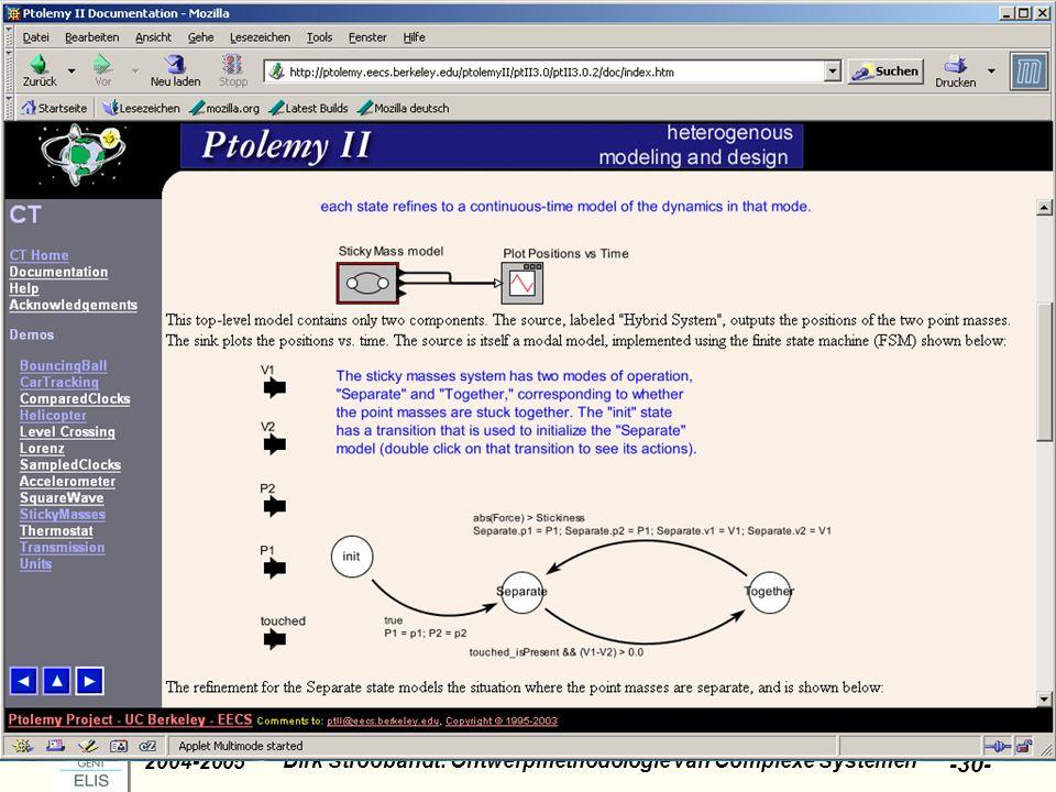 Dirk Stroobandt: Ontwerpmethodologie van Complexe Systemen 2004-2005 -30-