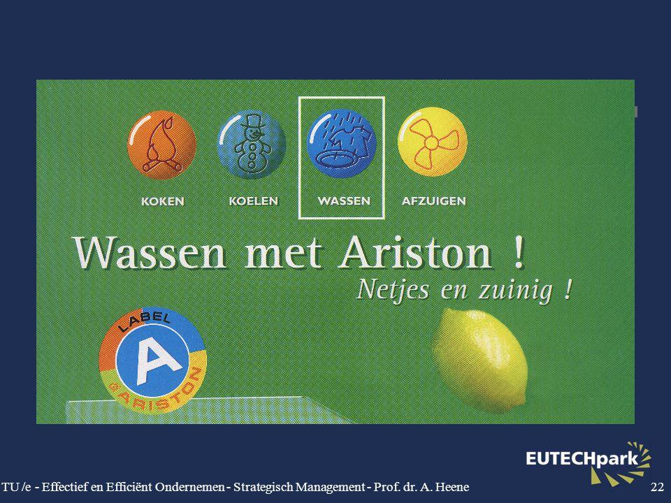 TU /e - Effectief en Efficiënt Ondernemen - Strategisch Management - Prof. dr. A. Heene22