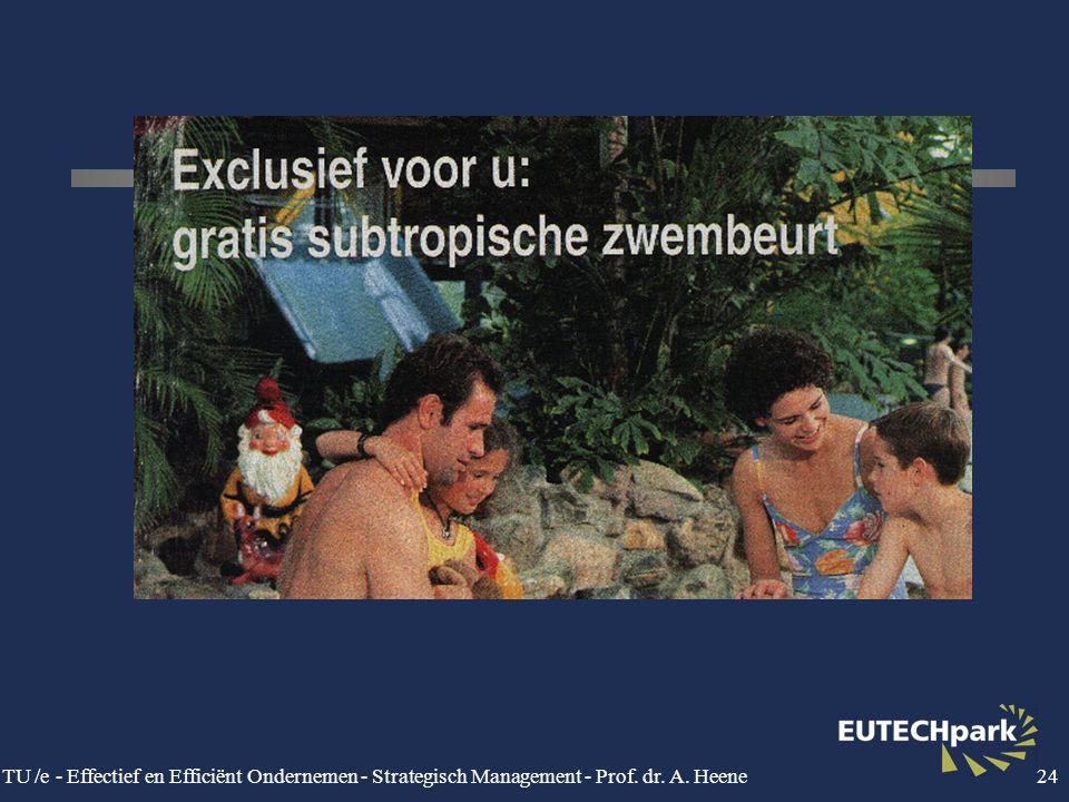 TU /e - Effectief en Efficiënt Ondernemen - Strategisch Management - Prof. dr. A. Heene24