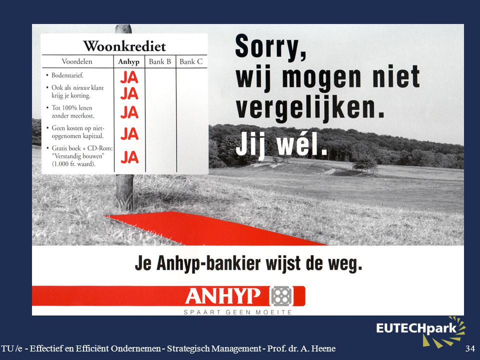 TU /e - Effectief en Efficiënt Ondernemen - Strategisch Management - Prof. dr. A. Heene34