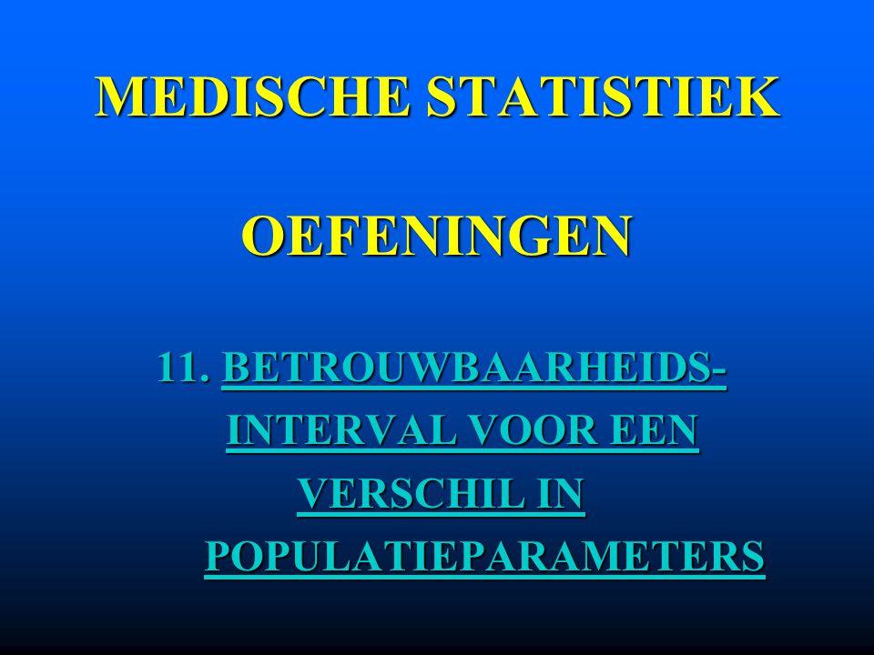 MEDISCHE STATISTIEK OEFENINGEN 11.