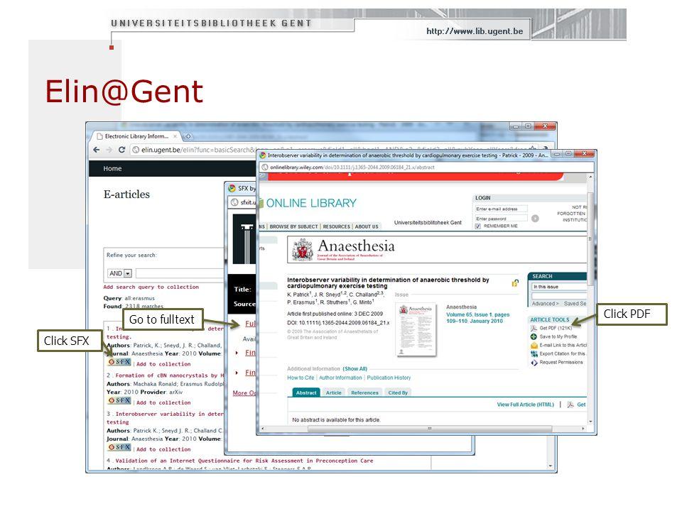 Elin@Gent Go to fulltext Click PDF Click SFX