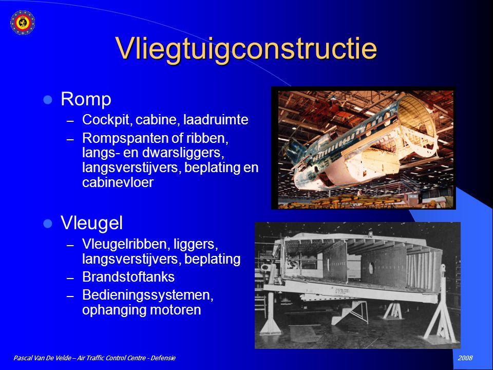 2008Pascal Van De Velde – Air Traffic Control Centre - Defensie Vliegtuigconstructie Romp – Cockpit, cabine, laadruimte – Rompspanten of ribben, langs