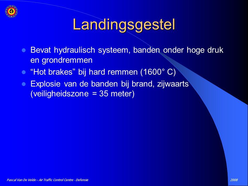 "2008Pascal Van De Velde – Air Traffic Control Centre - Defensie Landingsgestel Bevat hydraulisch systeem, banden onder hoge druk en grondremmen ""Hot b"