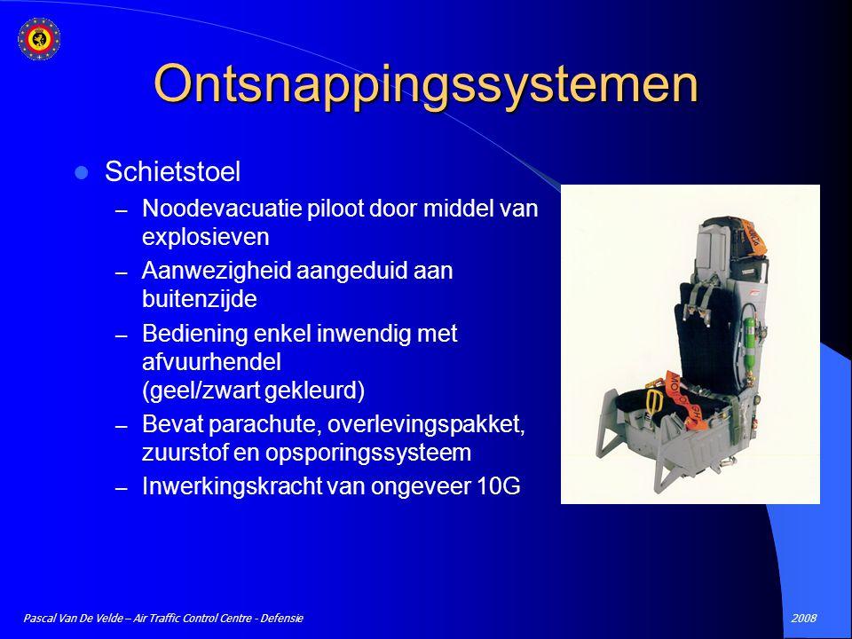 2008Pascal Van De Velde – Air Traffic Control Centre - Defensie Ontsnappingssystemen Schietstoel – Noodevacuatie piloot door middel van explosieven –