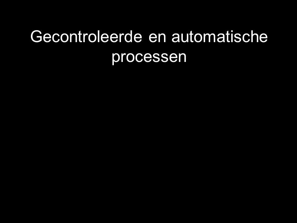 Gecontroleerde en automatische processen