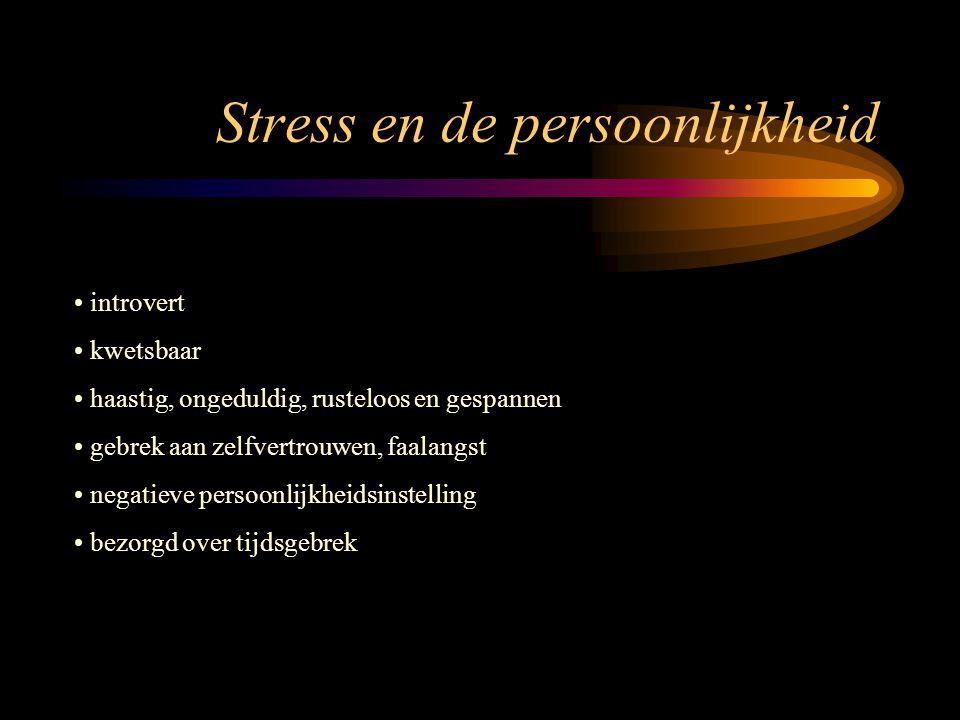 Stress - belasting door omgeving fysisch: hitte, koude, lawaai, trillingen, duisternis, regen scheikundig: blootstelling aan gevaarlijke stoffen psychosociaal: tijdsdruk, werkorganisatie, toeschouwers, media