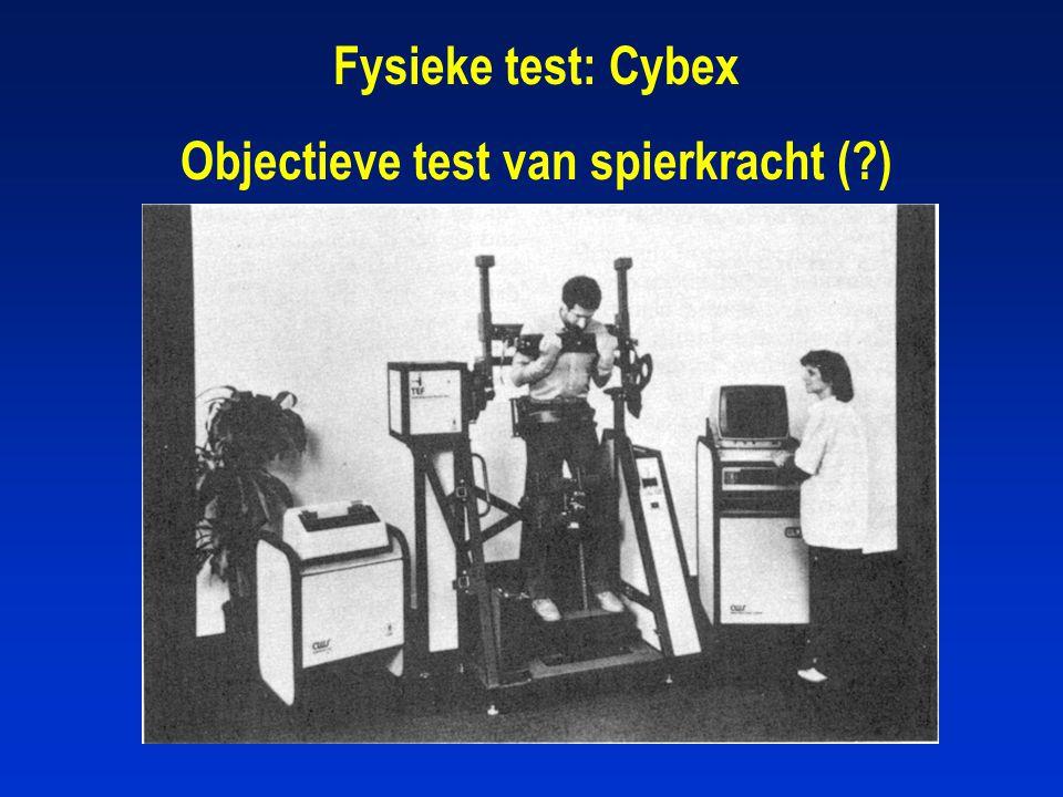 Fysieke test: Cybex Objectieve test van spierkracht (?)