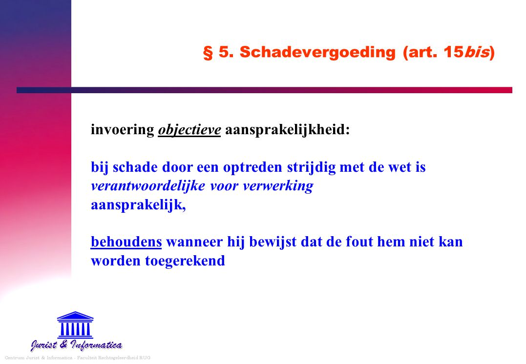 § 5.Schadevergoeding (art.