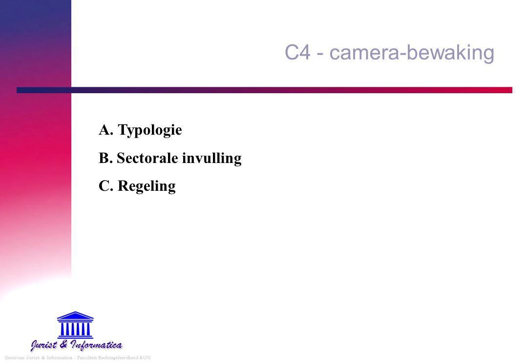 C4 - camera-bewaking A. Typologie B. Sectorale invulling C. Regeling