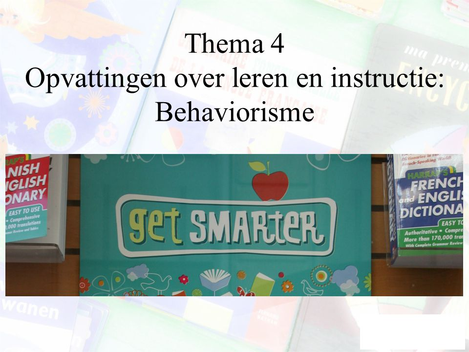 Start behaviorisme 2 Twitmeyer revisited Pavlov: vader van de geconditionneerde reflex Toevalsvondst