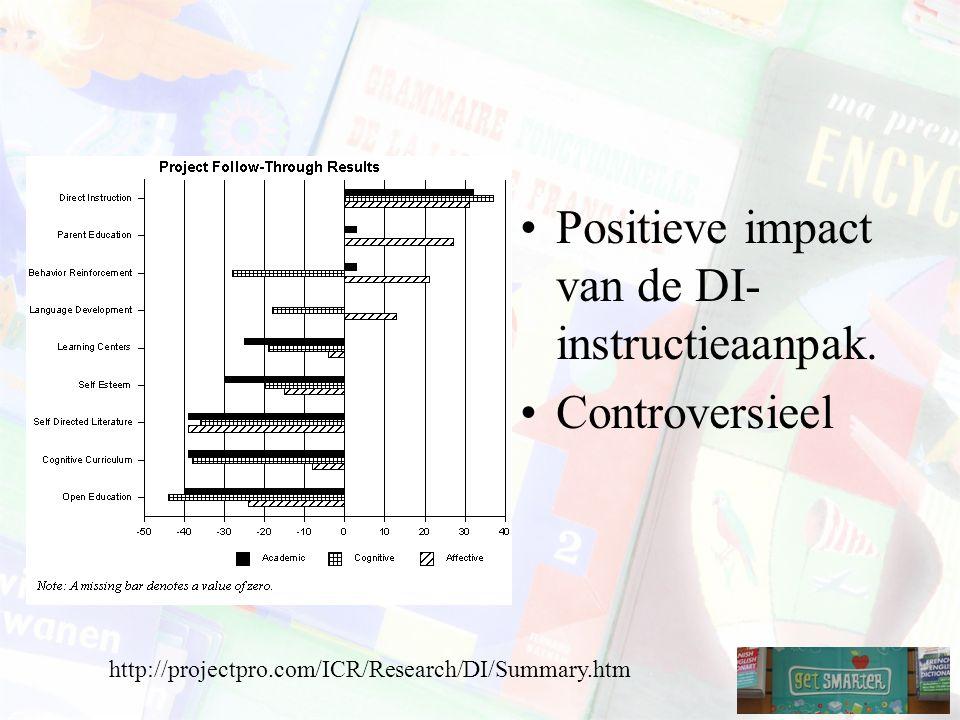 Positieve impact van de DI- instructieaanpak.