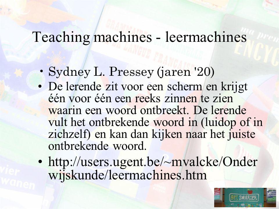 Teaching machines - leermachines Sydney L.