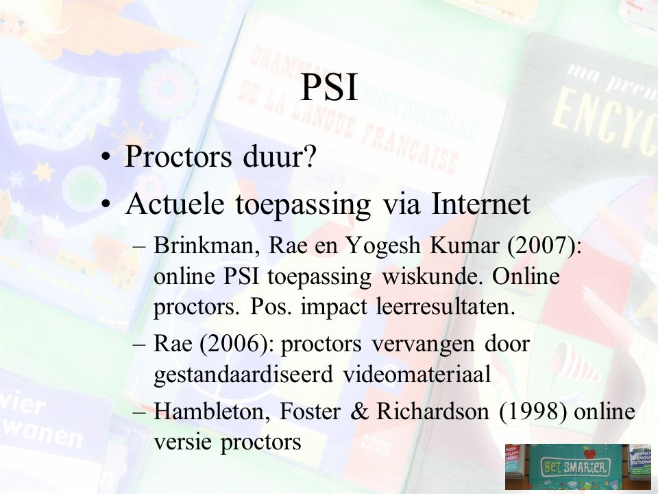 PSI Proctors duur.