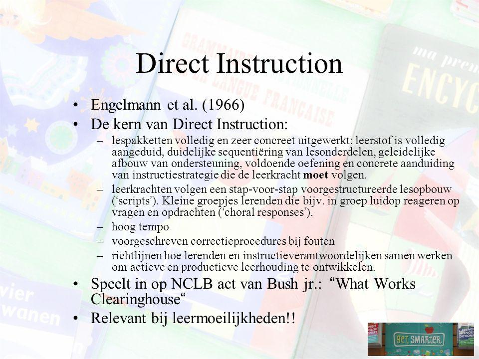 Direct Instruction Engelmann et al.