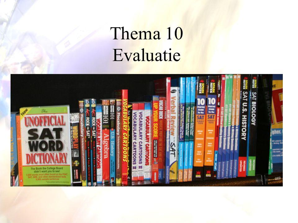 Thema 10 Evaluatie