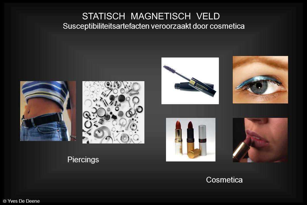 STATISCH MAGNETISCH VELD Susceptibiliteitsartefacten veroorzaakt door cosmetica Piercings Cosmetica  Yves De Deene