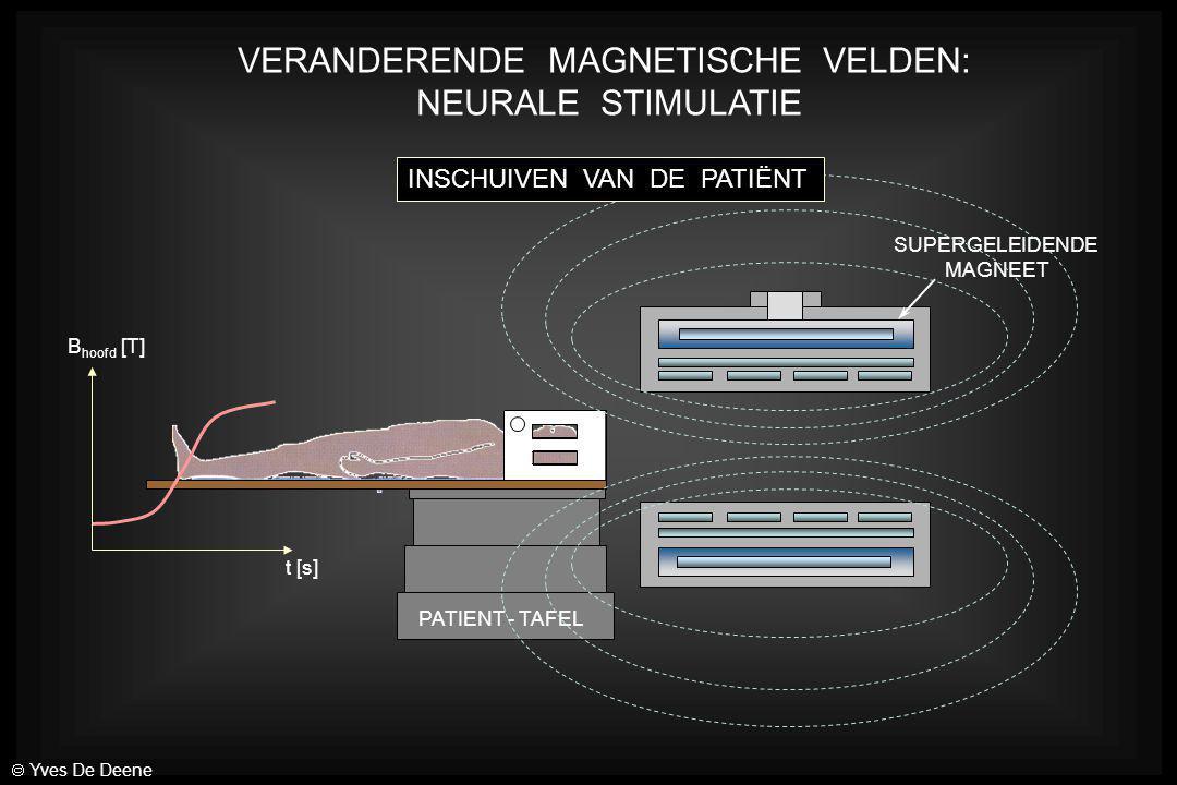 PATIENT - TAFEL SUPERGELEIDENDE MAGNEET VERANDERENDE MAGNETISCHE VELDEN: NEURALE STIMULATIE INSCHUIVEN VAN DE PATIËNT B hoofd [T] t [s]  Yves De Deen