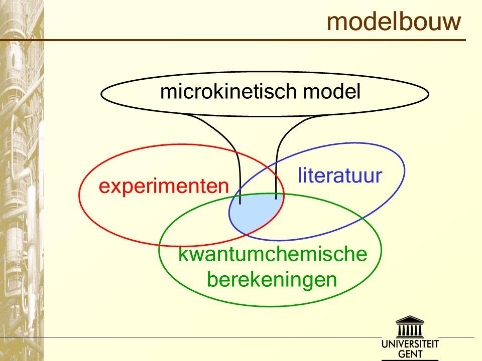microkinetisch model modelbouw literatuur kwantumchemische berekeningen experimenten