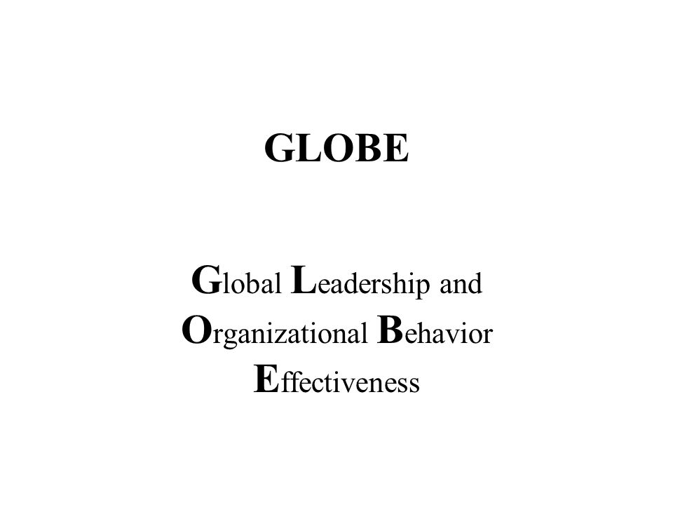 Voornaamste referenties http://www/ucalgary.ca/mg/GLOBE/Public Journal of World Business (2002), Special issue (vol.