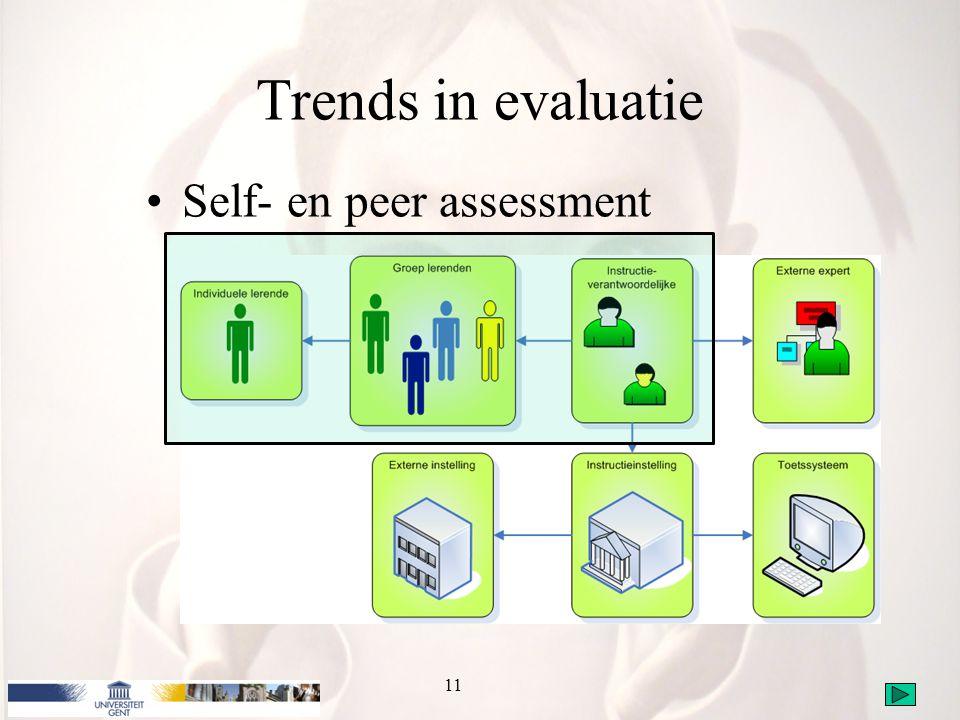 Trends in evaluatie Self- en peer assessment 11