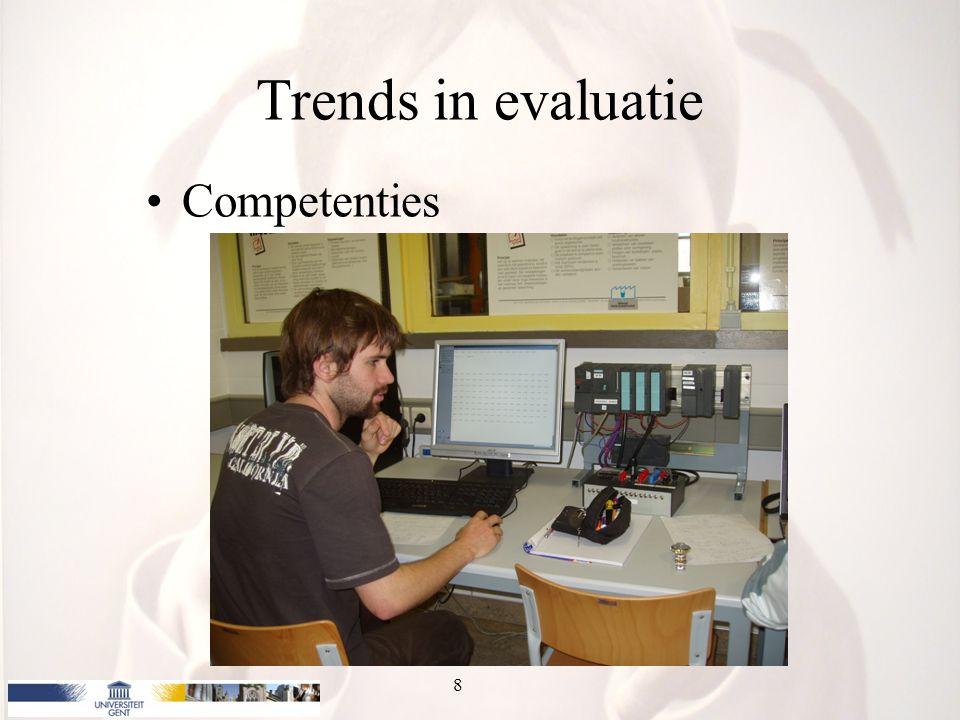 Trends in evaluatie Competenties 8