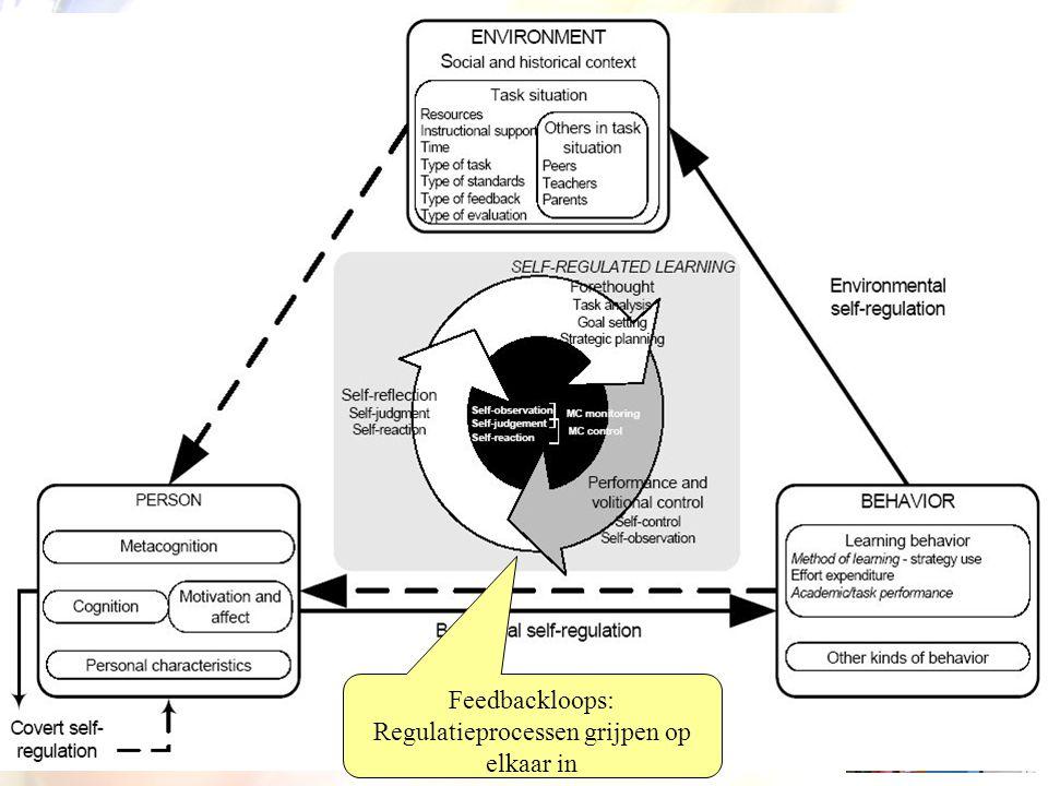 Zelfgereguleerd leren Feedbackloops: Regulatieprocessen grijpen op elkaar in