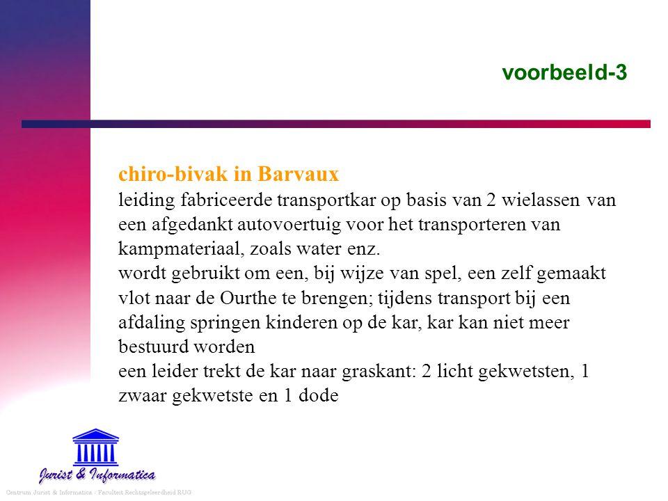 voorbeeld-3 chiro-bivak in Barvaux leiding fabriceerde transportkar op basis van 2 wielassen van een afgedankt autovoertuig voor het transporteren van