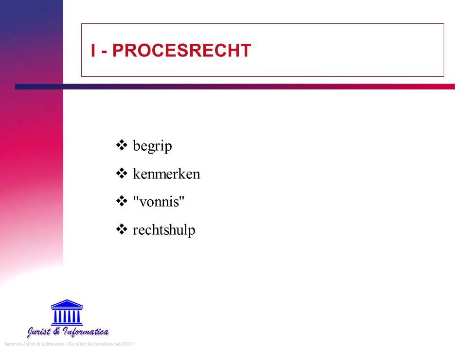 I - PROCESRECHT  begrip  kenmerken 