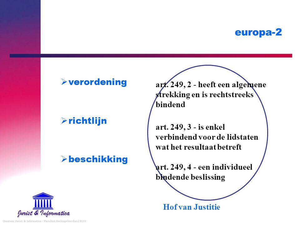europa-2  verordening  richtlijn  beschikking art.