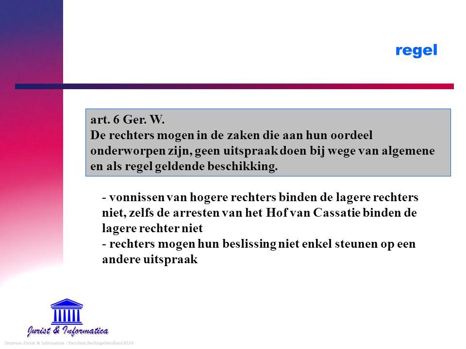 regel art. 6 Ger. W.