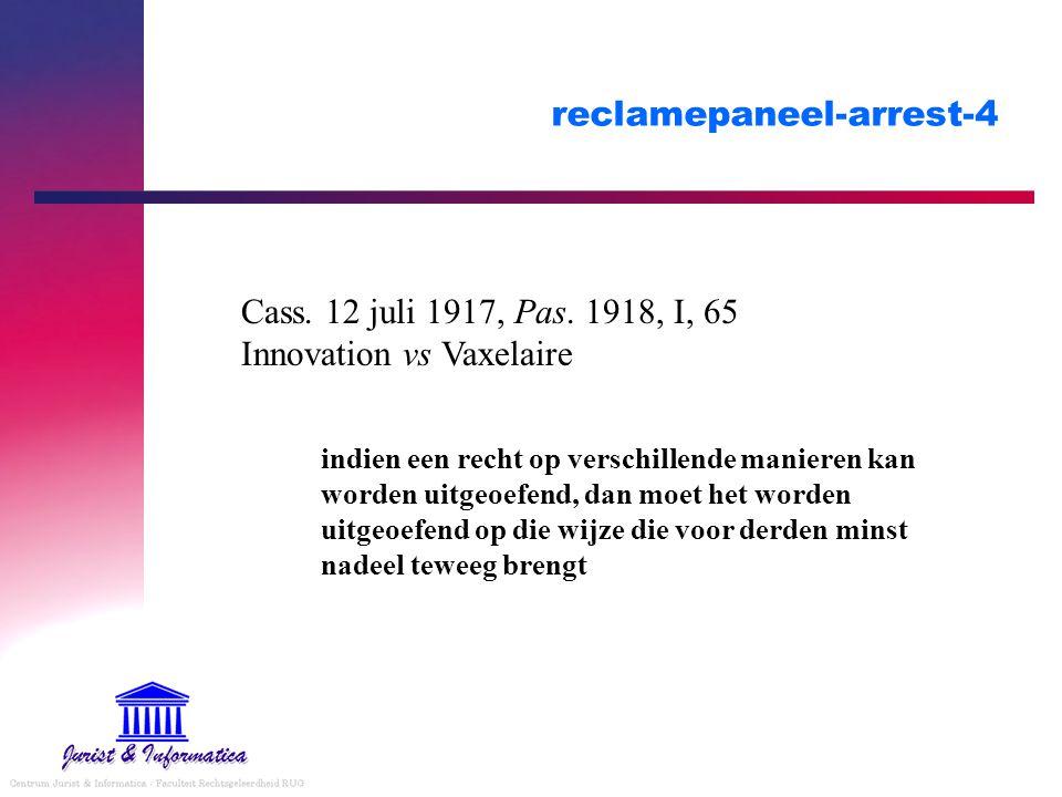 reclamepaneel-arrest-4 Cass. 12 juli 1917, Pas.