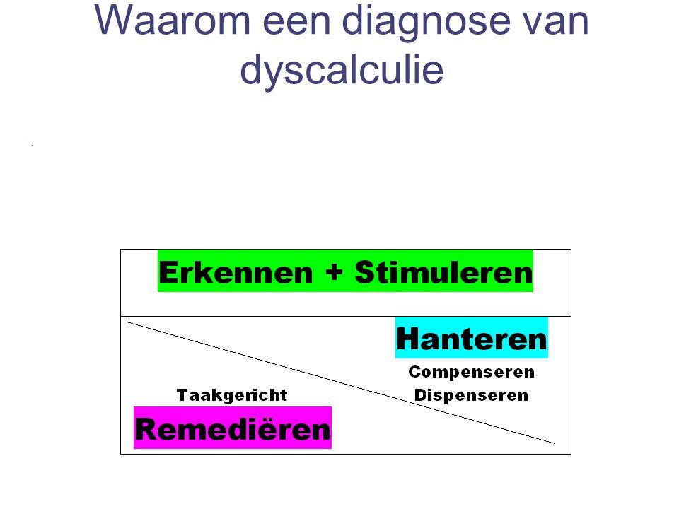 Waarom een diagnose van dyscalculie.