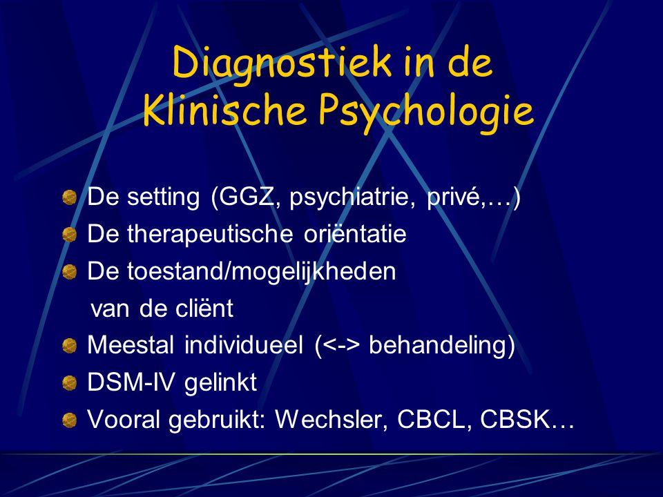 De sectoren Klinische Psychologie VVKP = Vlaamse Vereniging van Klinische Psychologen VVGP = Vlaamse Vereniging voor Gezondheidspsychologie Arbeids- e