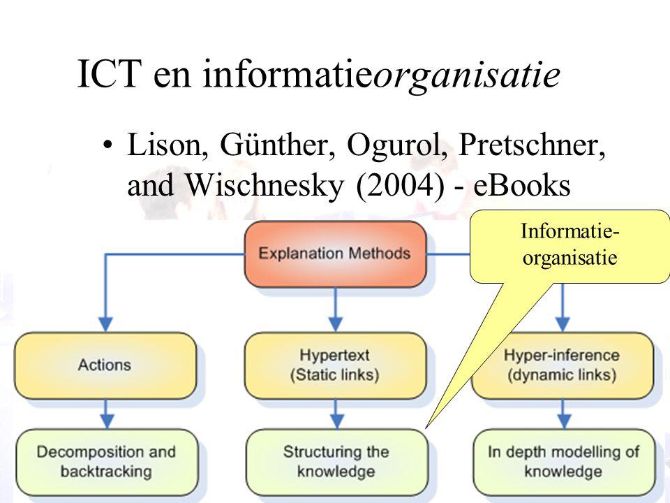 25 ICT en informatieorganisatie Lison, Günther, Ogurol, Pretschner, and Wischnesky (2004) - eBooks Informatie- organisatie