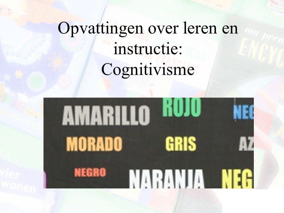 Kritieken op het cognitivisme Een groot accent op het cognitieve leren Het verwaarlozen van het spontane, natuurlijke leren De prescripties van cognit
