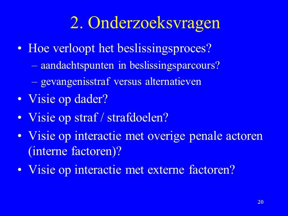 20 2.Onderzoeksvragen Hoe verloopt het beslissingsproces.