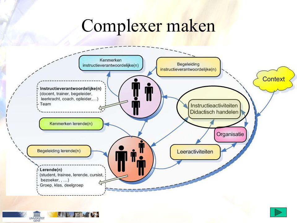 Complexer maken