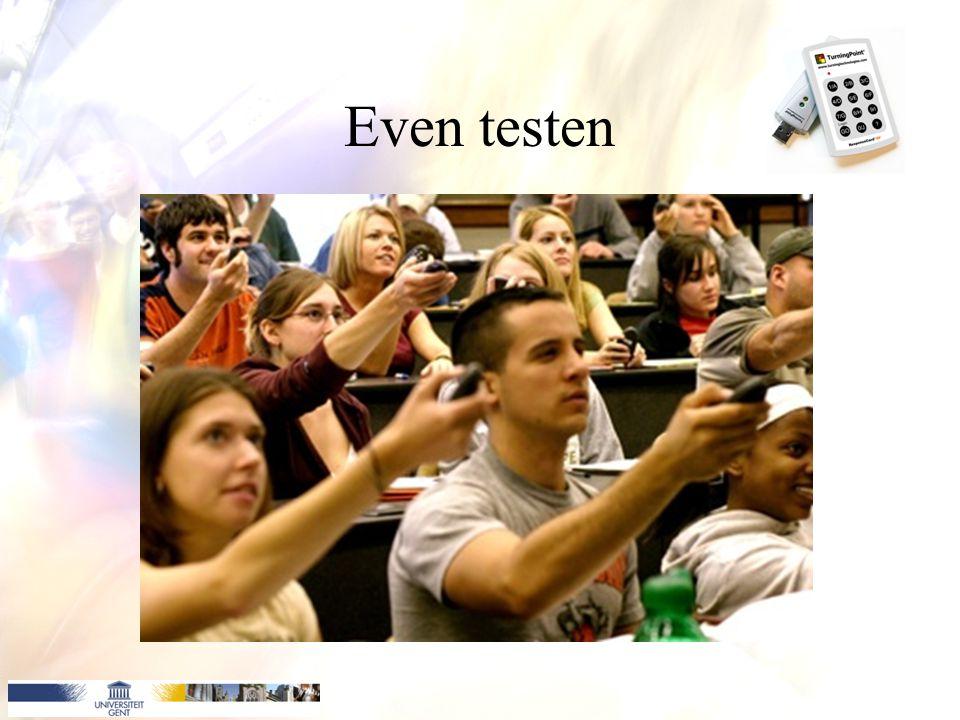 Even testen x